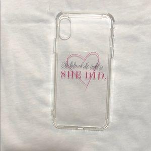 Girl Power iPhone X case - feminist iPhone Case